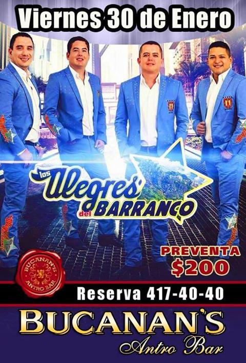 Los Alegres del Barranco - Bucanans Antro Bar - Cd.Obregón :: KULTUBE ...